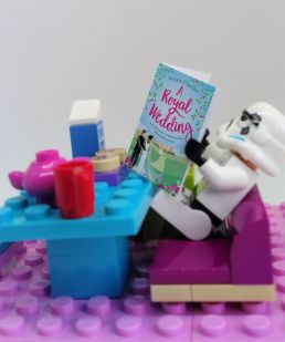 A Lego Stormtrooper reads A Royal Wdding